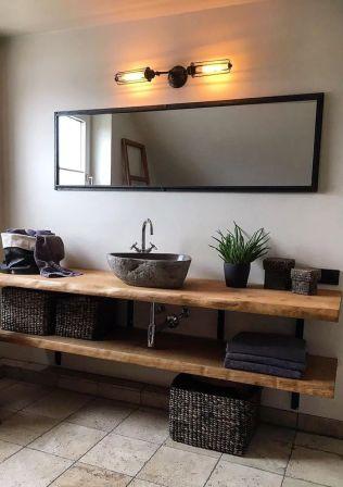 Salle de bain en béton et en bois (6)