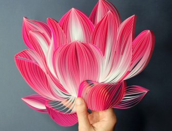 Les fleurs en papier éclatantes de couleurs et de caractère par JUDiTH + ROLFE