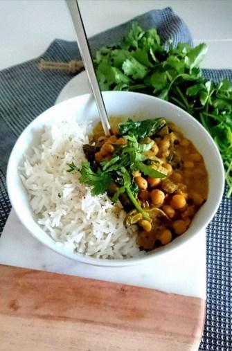 Le curry de pois chiche