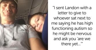 Un enfant autiste voyage seul avec un mot de sa mère, son compagnon de vol réagit à merveille !
