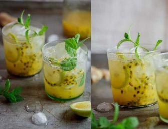 Cocktail fruit de la passion et gingembre