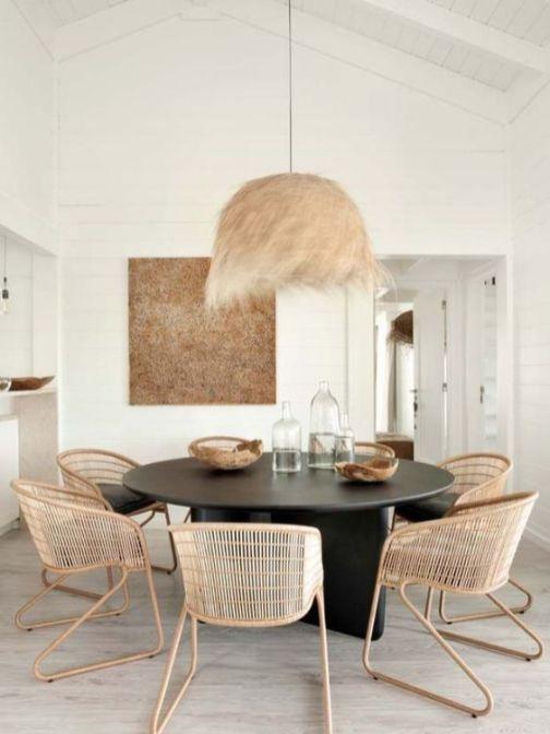 Les meubles en rotin, bambou tissés (17)