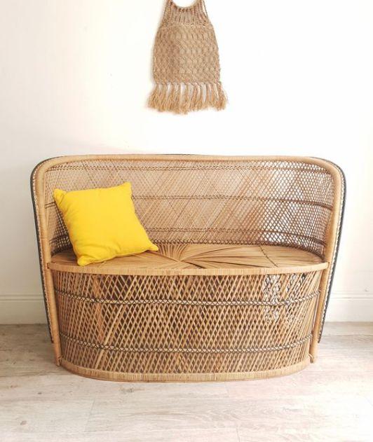 Les meubles en rotin, bambou tissés (4)