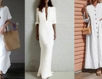 La robe blanche longue et ample, chic et relax !