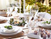 Des tables de Noël blanches pour s'inspirer