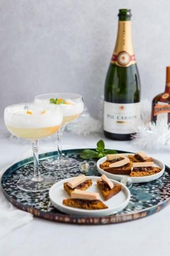 Cocktail au champagne et cointreau