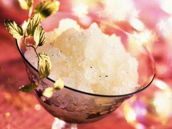 Granité de champagne à la vanille