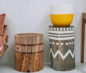 Comment fabriquer une table basse ou un tabouret à base de troncs d'arbre