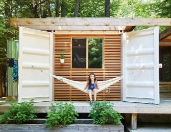Une mini maison container de 35m2 a été construite en 2 semaines