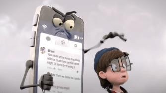 «Like and Follow» : un film d'animation sur l'addiction de nos enfants aux portables !