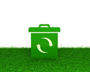 green box on grass