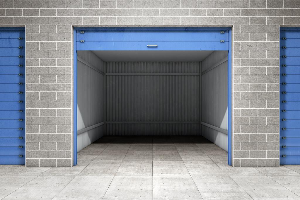 self storage blue doors