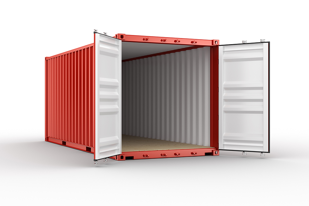 red moving container