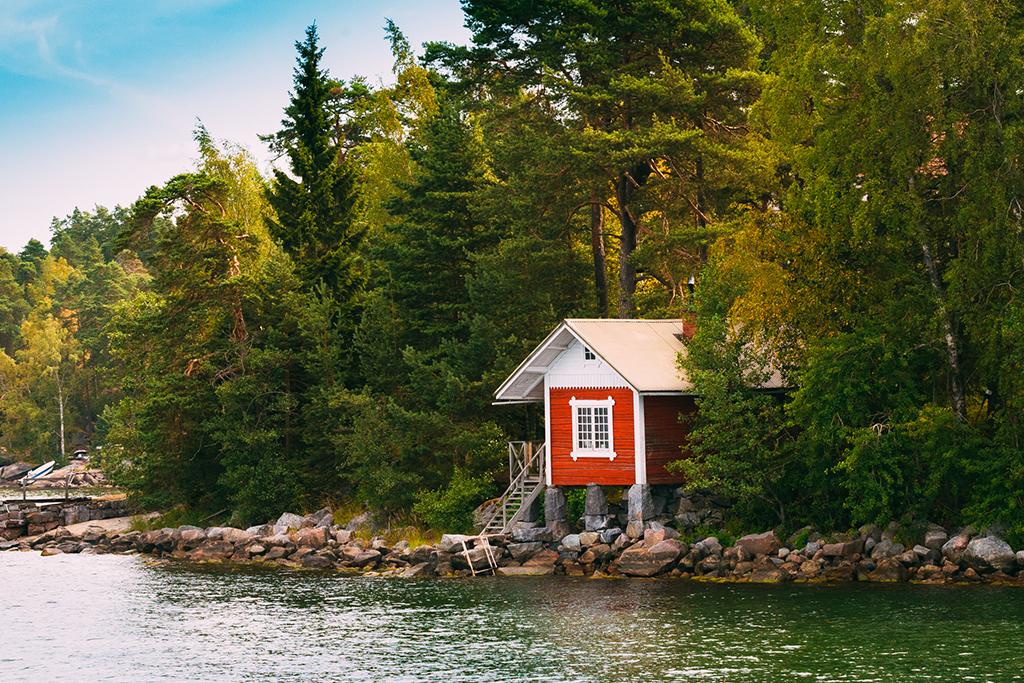 tiny house on lake