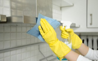 cleaning oven hood