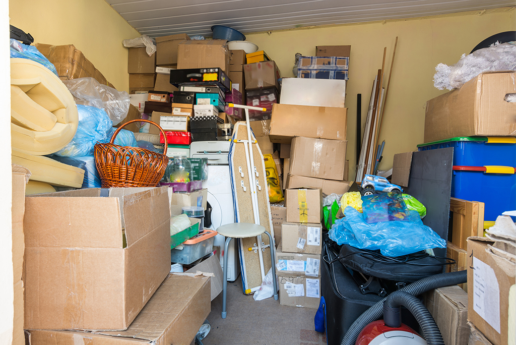 moving boxes clutter