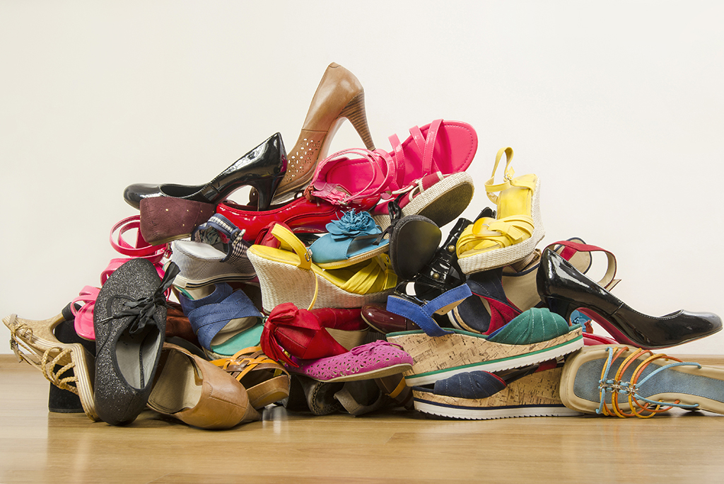 pile of shoes