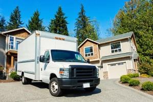 truck in driveway