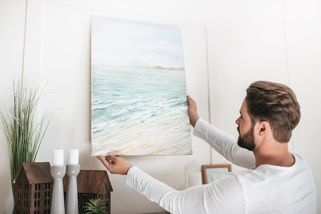 How To Hang Artwork on a Wall