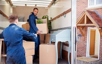 movers unloading a truck
