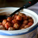 crock pot full o' meatballs