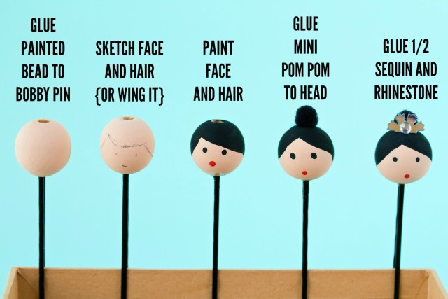 bunhead bobby pins | movita beaucoup - an easy DIY for the dancer in your life!