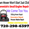 Lawn Mower Won't Stay Running Repair Denver, CO