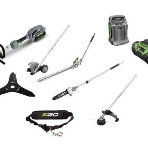 Ego MHSC2002E Multitool Kit inc Hedge Trimmer, Strimmer, Pruner, Edger + 5.0AH + Fast Charger