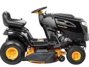 "Side View of Poulan Pro 46"" 20HP Riding Mower"