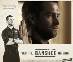 Anthony Starr plays the sheriff on Banshee.