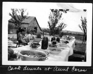 Dinner at Cora Cook Baugher's home, circa