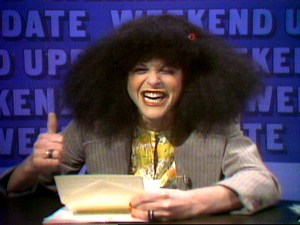 Rosanne Rosannadanna, as portrayed by Gilda Radner in early Weekend Updates on Saturday Night Live.