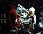 Glenn, John, entering capsule