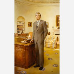 Jimmy Carter, portrait at the National Portrait Gallery by Robert Clark Templeton