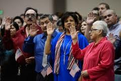 On July 3, 2012 at the Seattle Center, 520 people from 79 nations became U.S. citizens. – Copyright 2012 The Associated Press.