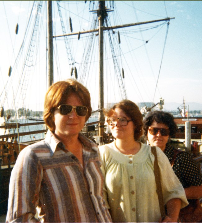 Here Velda and I are, about to leave on our ocean cruise in 1980.