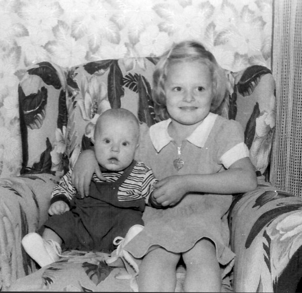 Here I am in 1956 with my sister ... amazed that anyone would want my picture with her included.