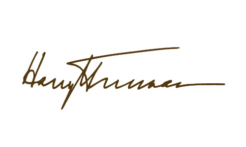 Harry Truman, signature