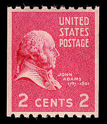 This 2 cent stamp was introduced in 1938.