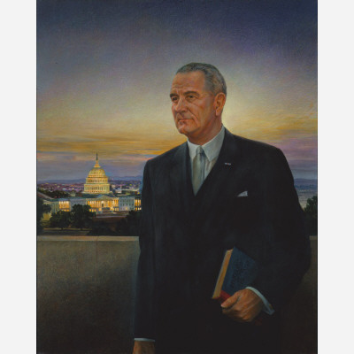 "This 1967 portrait by Peter Hurd was meant to be Johnson's official White House likeness. But that plan was quickly scrapped after Johnson declared it ""the ugliest thing I ever saw."" Soon the pun was making the rounds in Washington that ""artists should be seen around the White House-but not Hurd."" This ugly thing is now in the National Portrait Gallery."