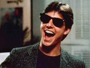 "Tom Cruise's fortune was made in ""Risky Business"" and his oh so retro Ray-Bans."