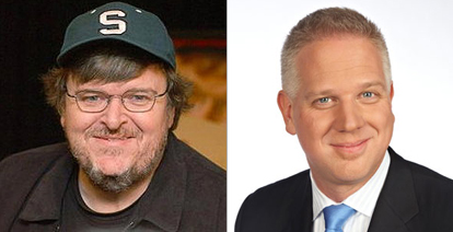 For your consideration, Michael Moore on the left & Glenn Beck on the right. As always.