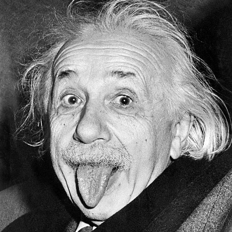 Albert Einstein, on his 72nd birthday. Photo by Arthur Sasse, March 14, 1951, (AFP - Getty Images)