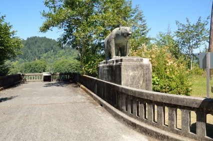 In 1964, the heaviest rain ever recorded in the area knocked down the 40-year old Douglas Memorial bridge, leaving a bear behind.
