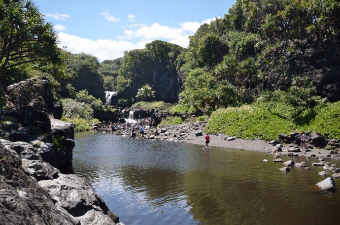 "The ""Seven Sacred Pools"" (they aren't sacred, and there aren't seven), formed by the Palikea Stream. 2011."