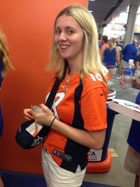 Here's Jessica, in a photo that Joe tweeted from the game.