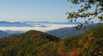 Fog shrouds the valleys of North Carolina In this October shot of the Great Smoky Mountains National Park. Tweeted by the US Department of the Interior 10/20/13.