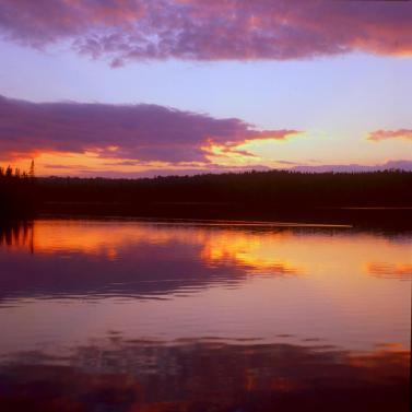 Sunset on Siskiwit Lake. From the Park's Facebook page.