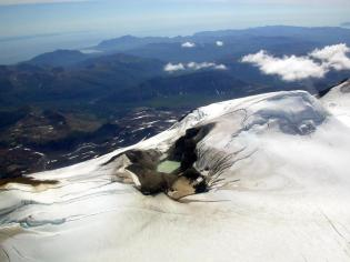 Active vent on Mt Mageik, a volcano in Katmai National Park. From the National Park Service website.