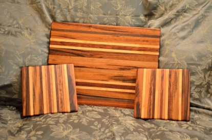 Cutting board, 2 cheese boards.
